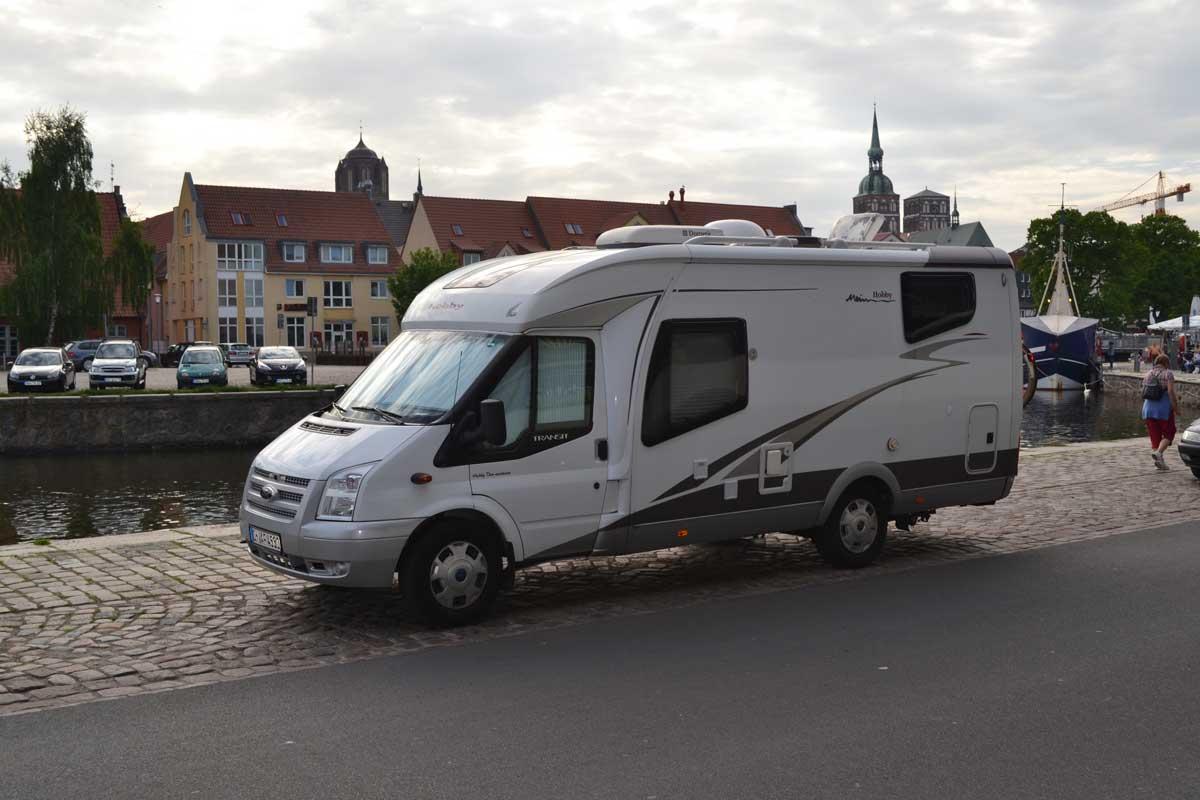 Stellplatz im Hafen von Stralsund