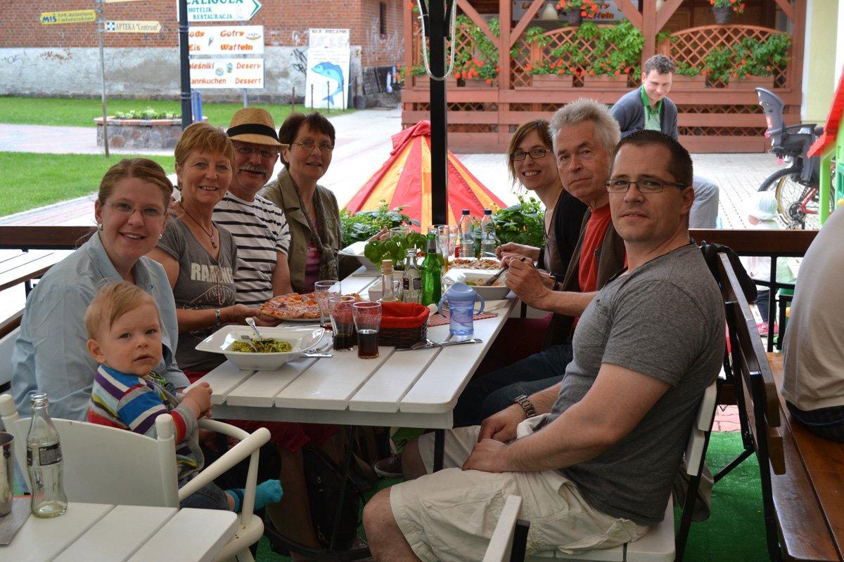 Mittagessen mit der Familie in Mikolajki