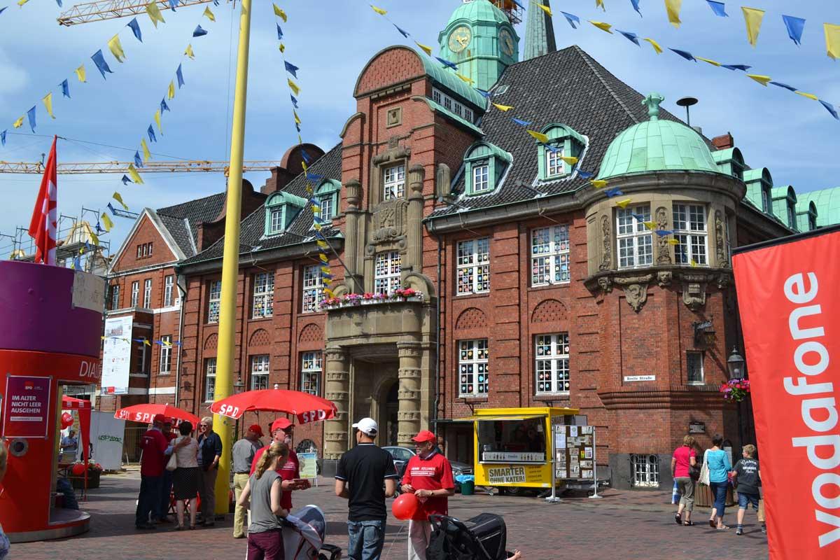 Das Rathaus in Buxtehude