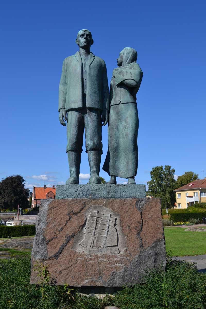Auswanderer Statue in Karlshamn