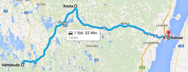 Haetteboda - Kosta - Kalmar
