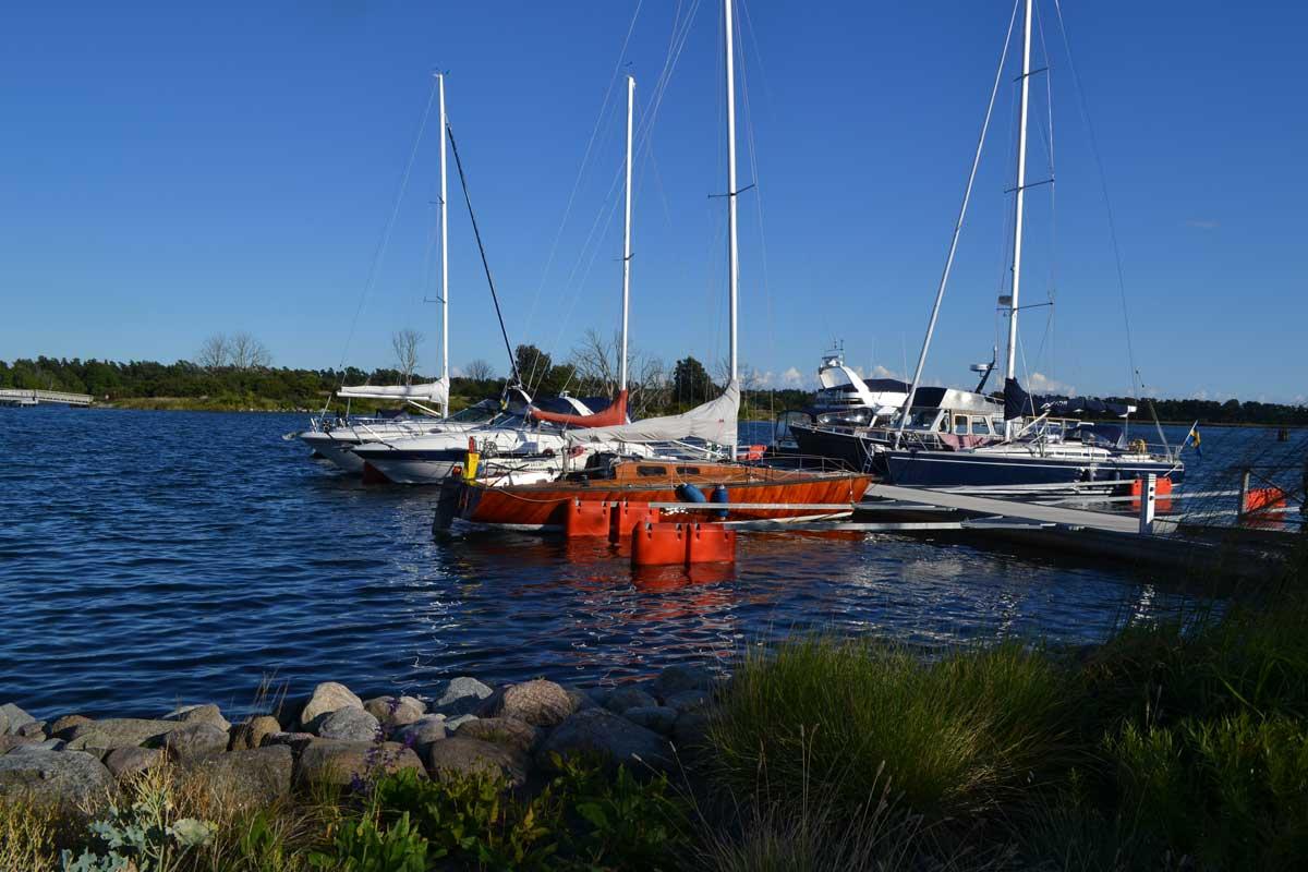 Der kleine Bootshafen in Sölvesborg