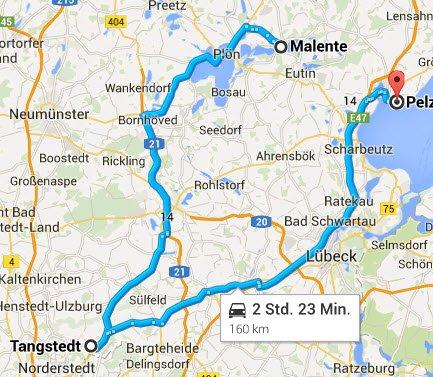 Malente - Norderstedt - Pelzerhaken