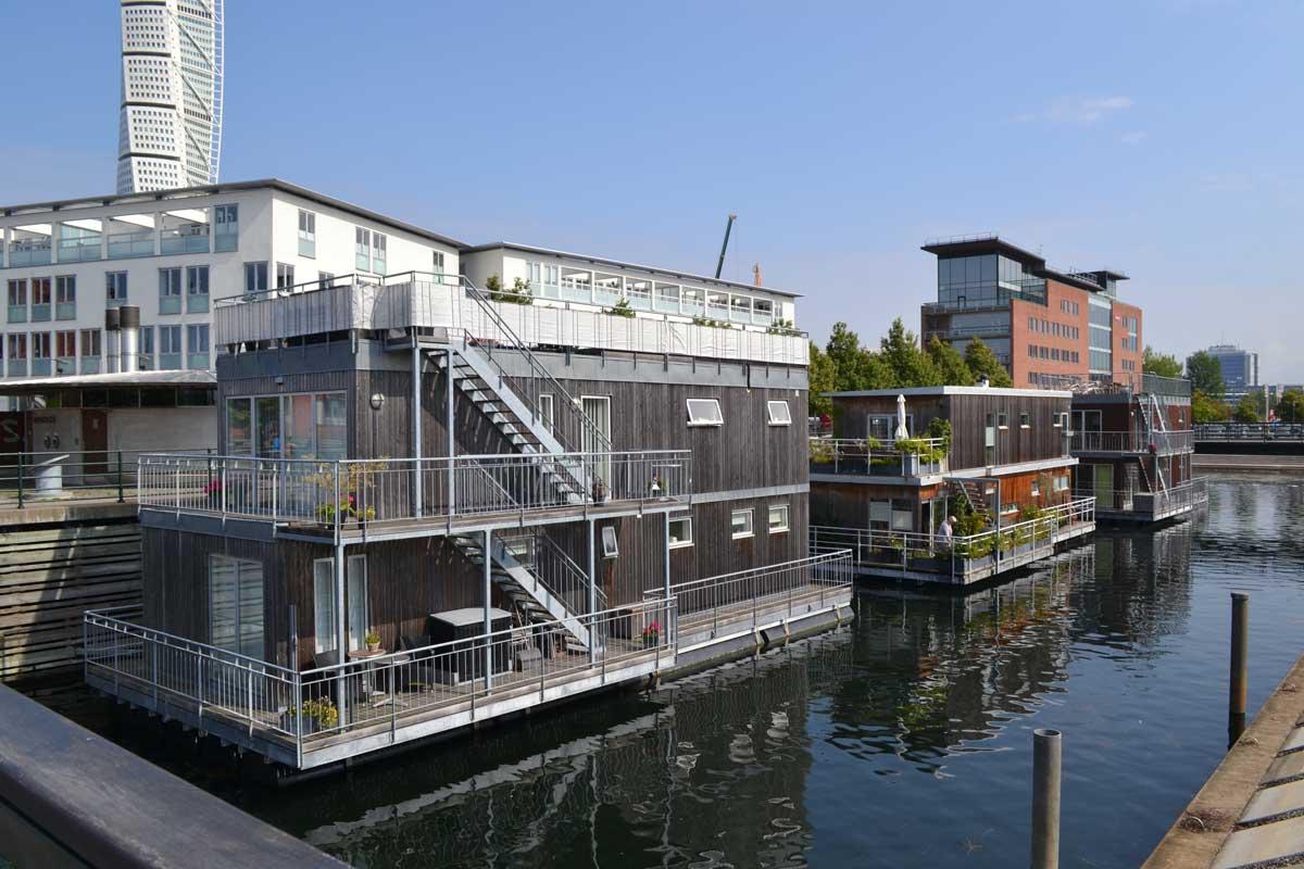 Wohnschiffe im Västhamn