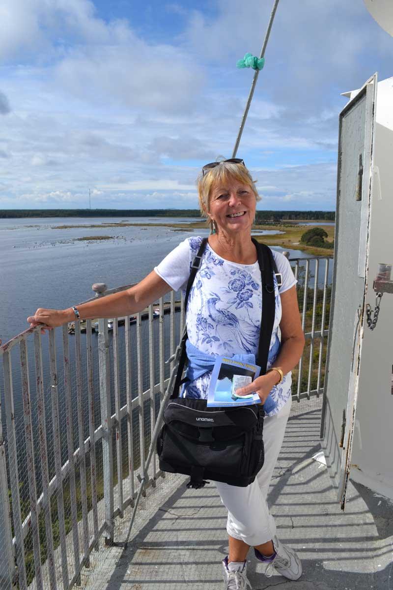 Anne ganz ohne Höhenangst auf dem Leuchtturm