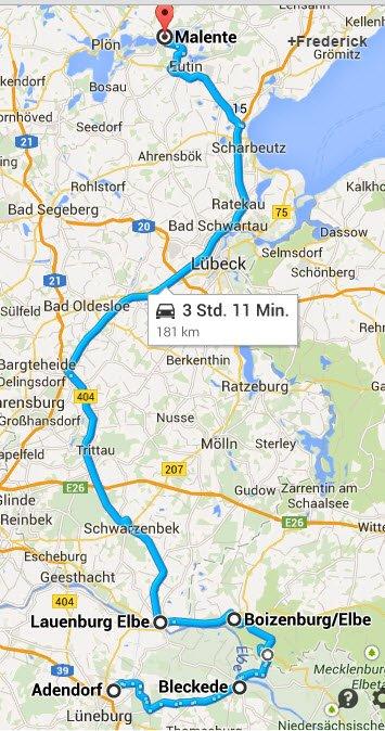 Adendorf - Bleckede - Boizenburg - Malente