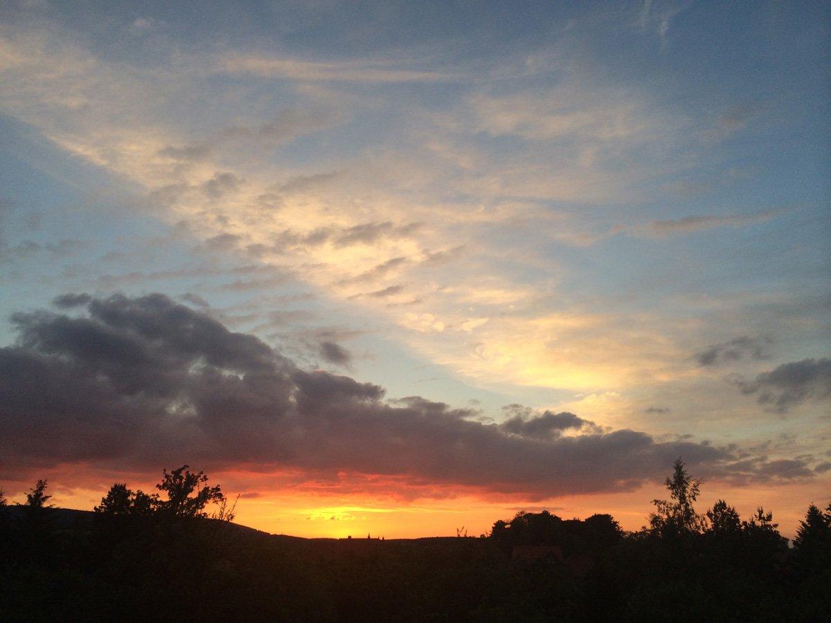 Sonnenuntergang in Darlingerode