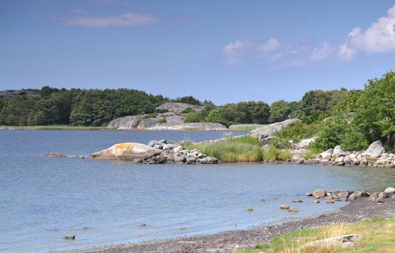 Küstenlandschaft der Insel Amundö