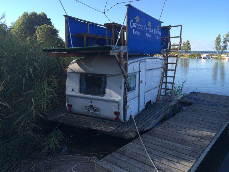 Kreative Hausbootkonstruktion
