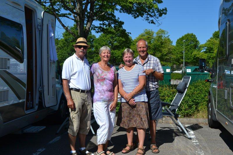 Mit Carol und Kevin aus England