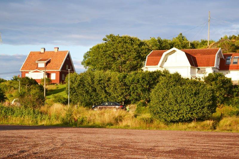 Typische schwedische Häuser in Billdal