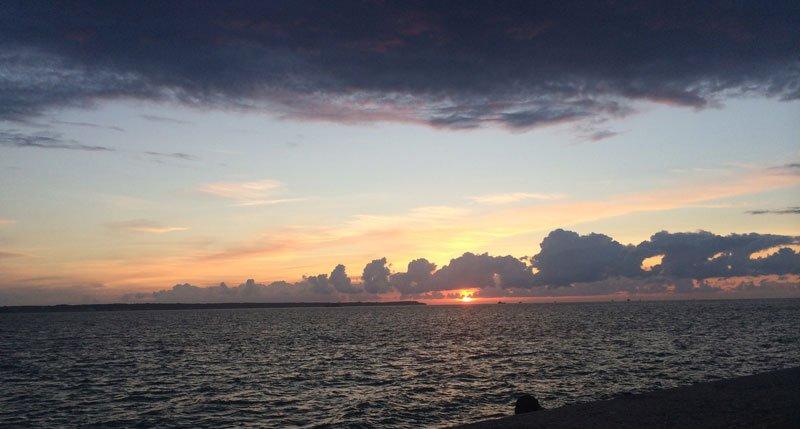 Sonnenuntergang am Öresund