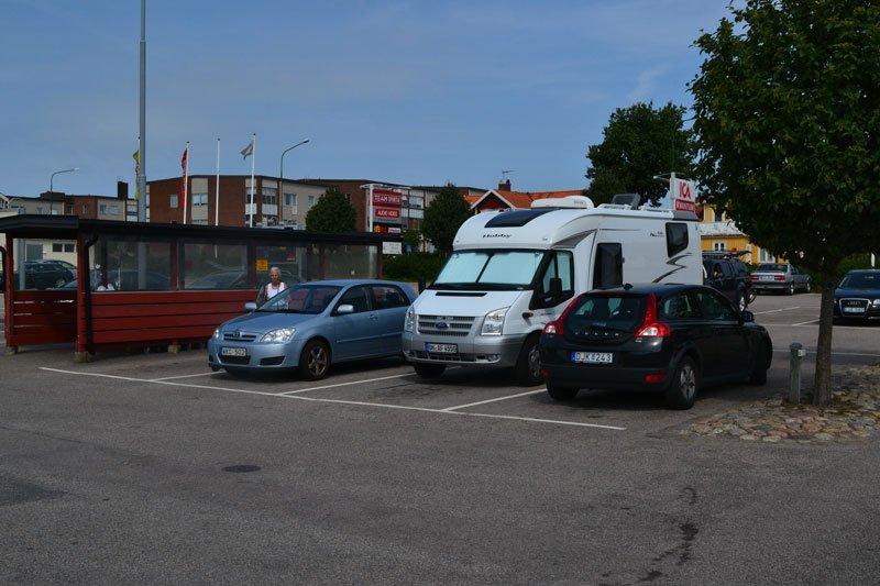Stellplatz bei ICA in Falkenberg