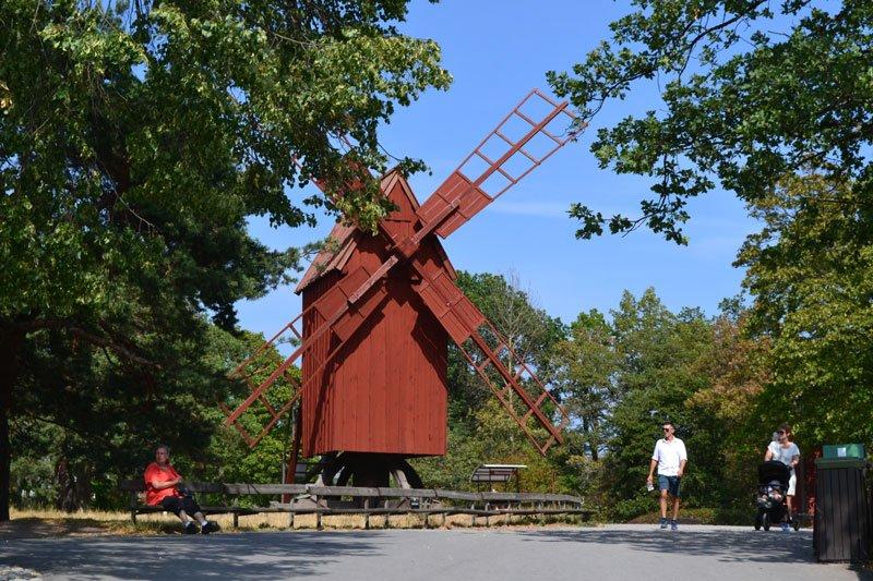 Traditionelle schwedische Mühle