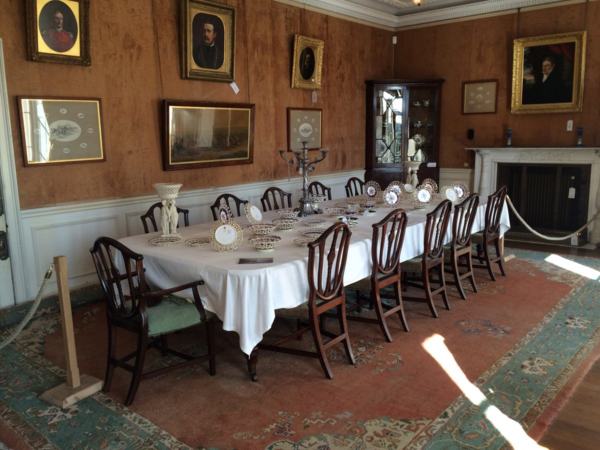 Der große Speisesaal im Herrenhaus