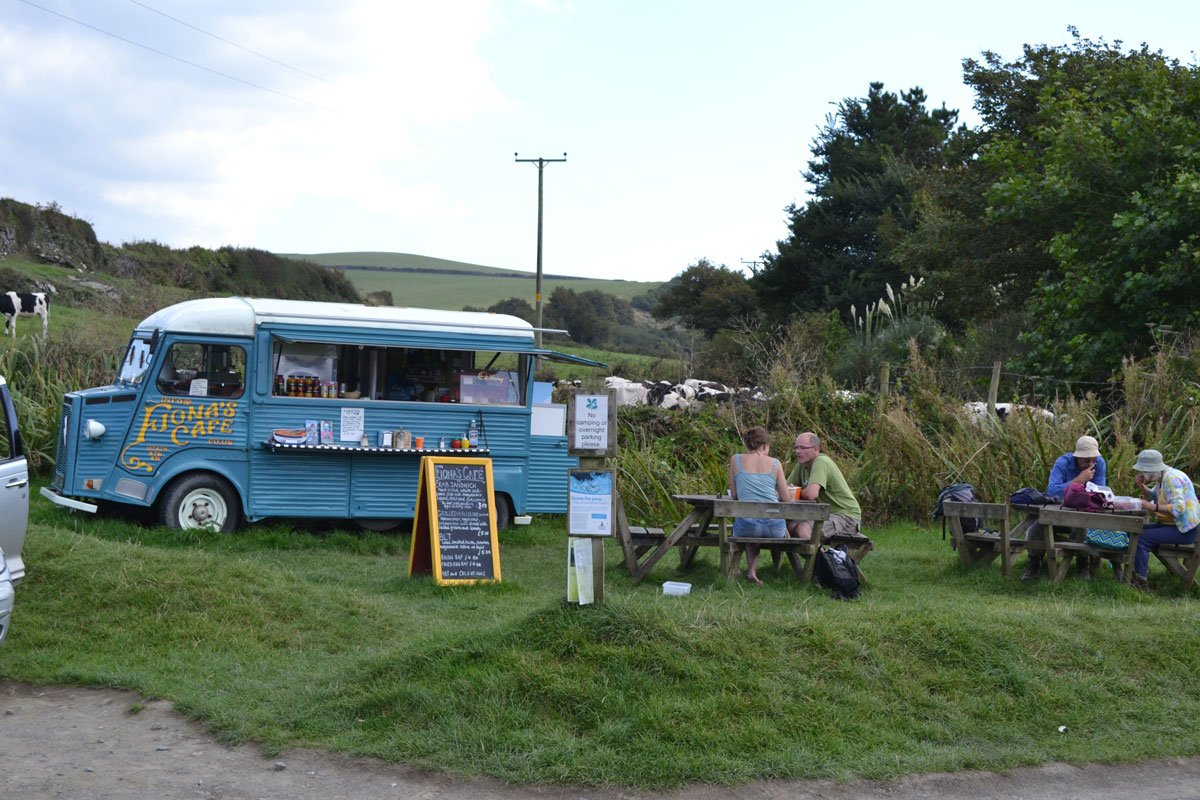 """Fionas Café"" in Port Quin"