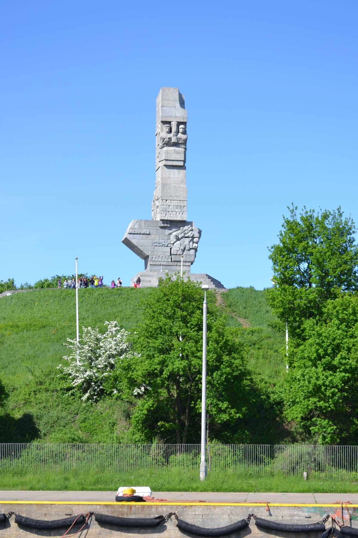 Kriegsmahnmal in Erinnerung an den Beschuss der Westernplatte