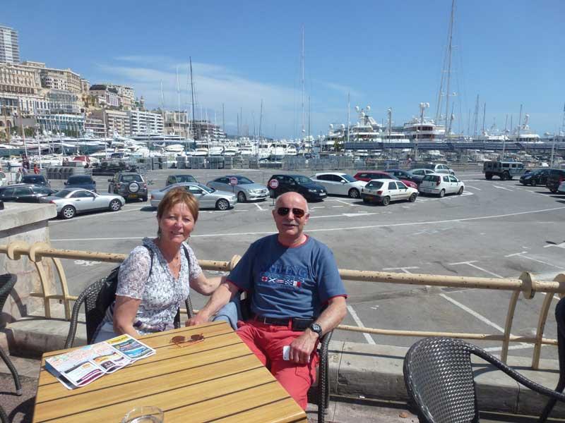 Rast im Hafen von Monte Carlo