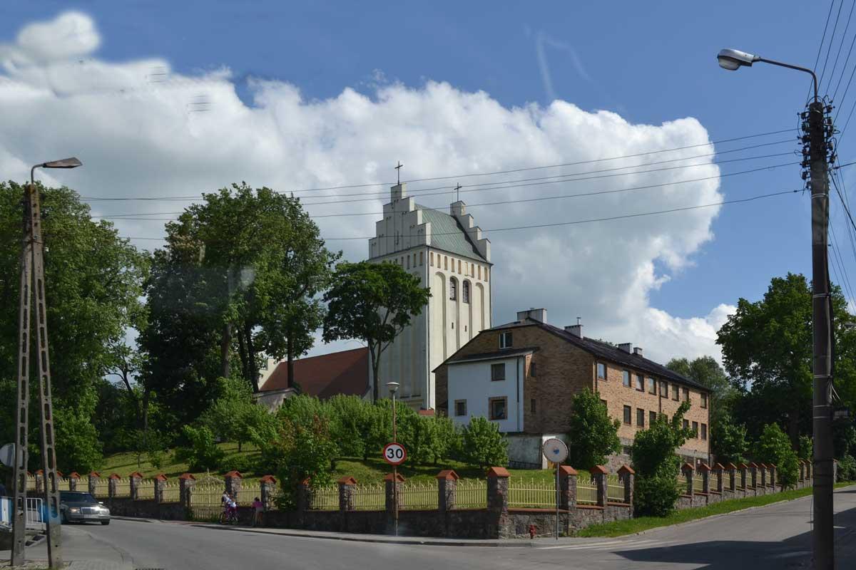 Die Kirche in Goldap (ungewöhnlicherweise in weiß)