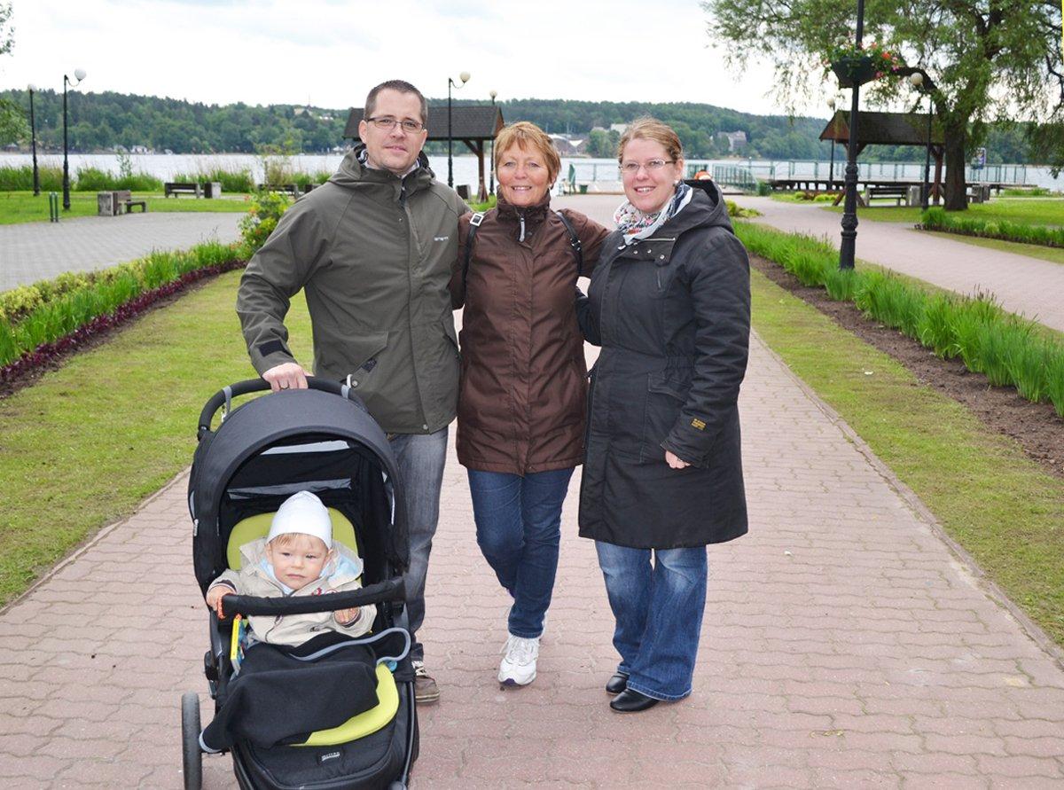 Lars, Anne, Dani und Lukas in Sensburg