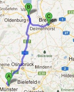 Muenster - Rastede - Bremen