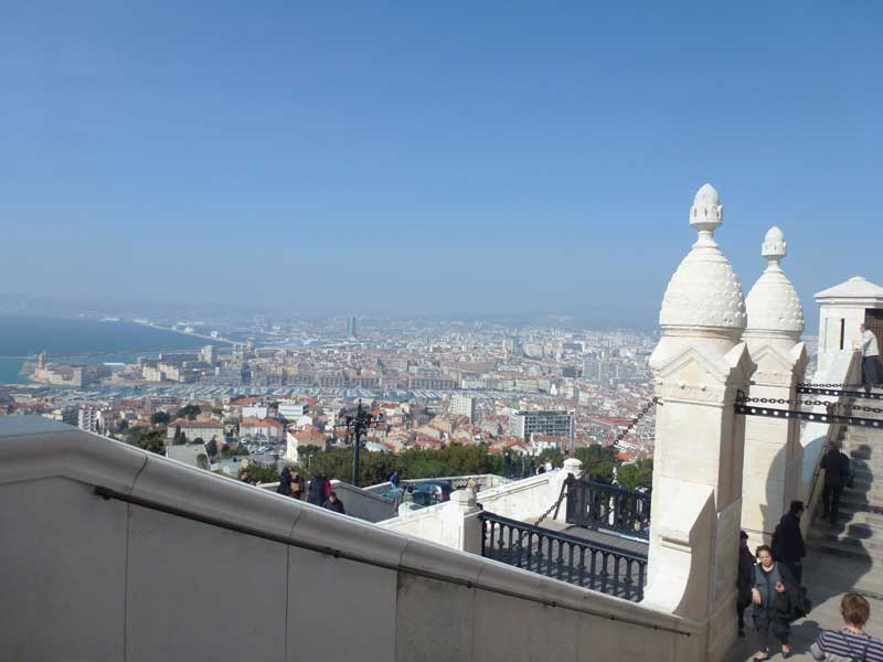 Panorama von Marseille von der Notre Dame de la Garde