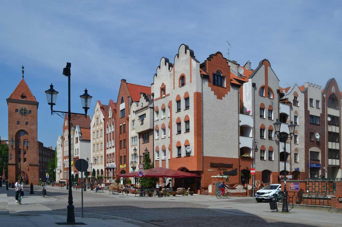 Restaurierte Häuser in der Altstadt