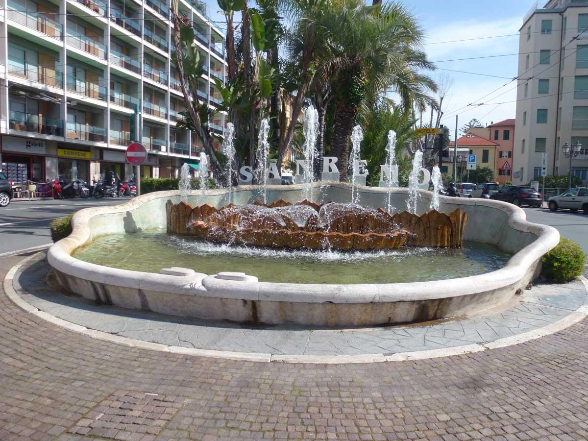 Springbrunnen im Zentrum von Sanremo