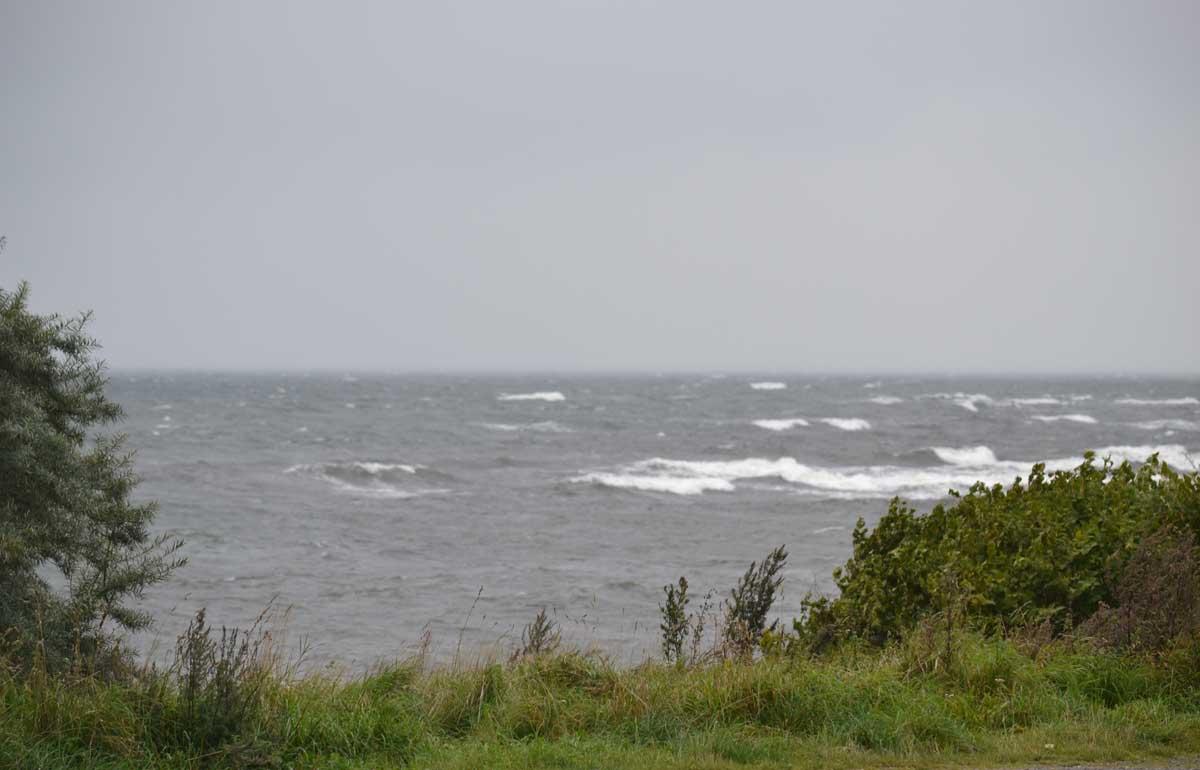 Stürmische Ostsee am Tag der Abreise