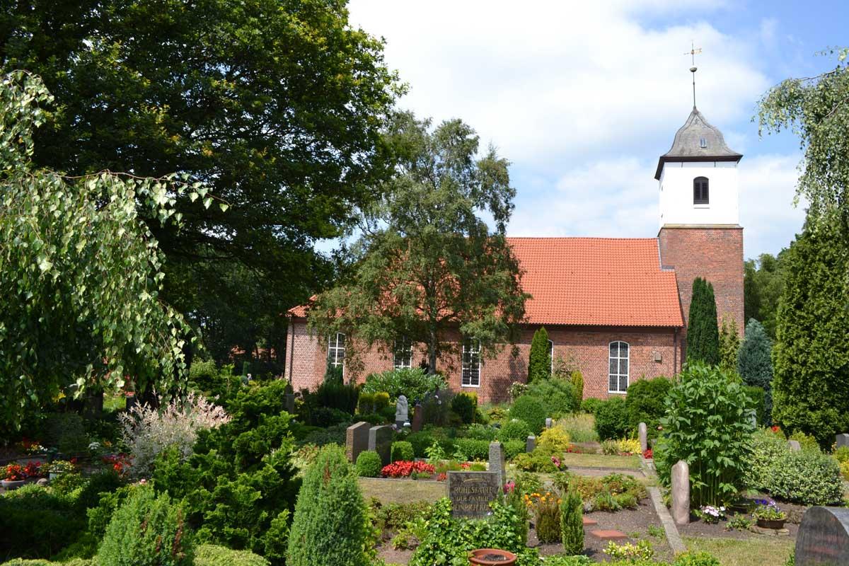 Worpswede Kirche und Friedhof