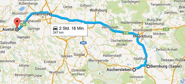 Aschersleben - Bernburg - Auetal