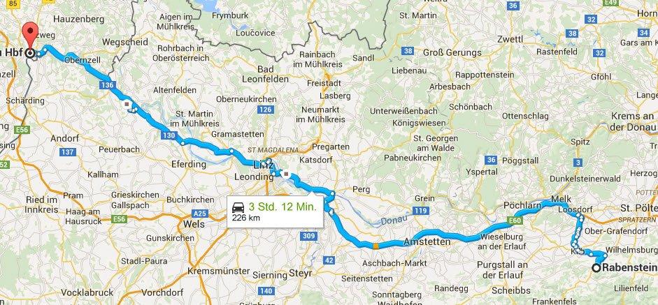 Rabenstein - Passau 226 km