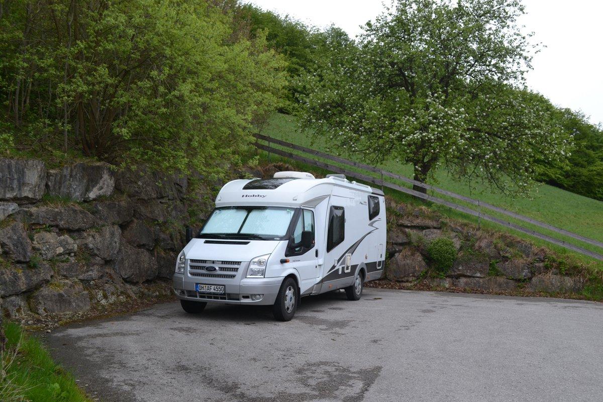 Unser ruhiger Parkplatz in Rabenstein