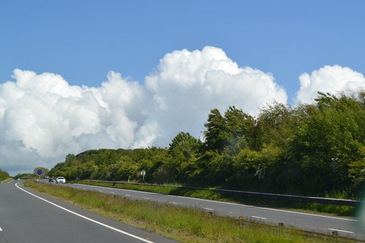 Dramatische Wolken über Snowdonia