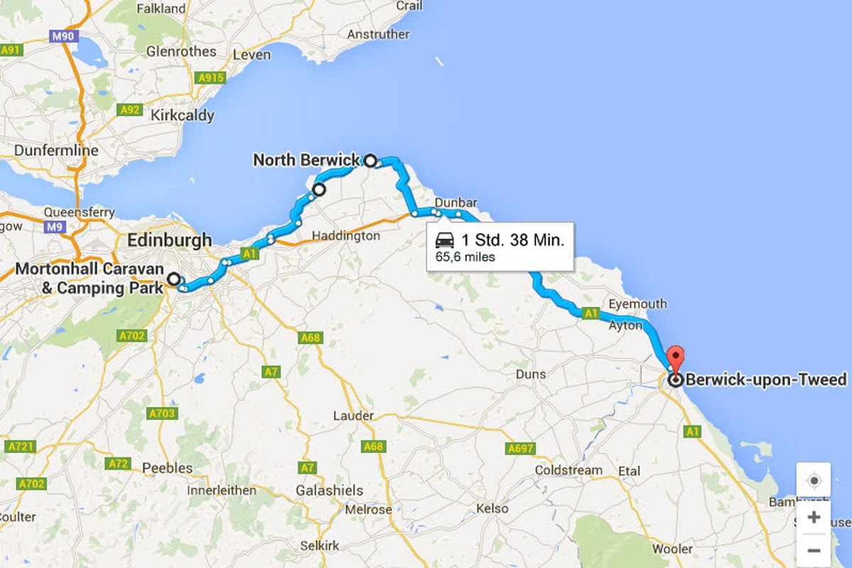 Edinburgh - North Berwick - Berwick-upon-Tweed