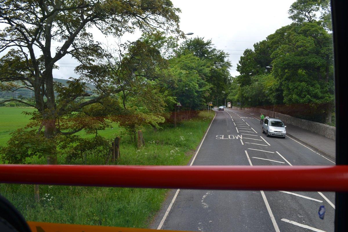 Fahrt im Doppeldecker Bus