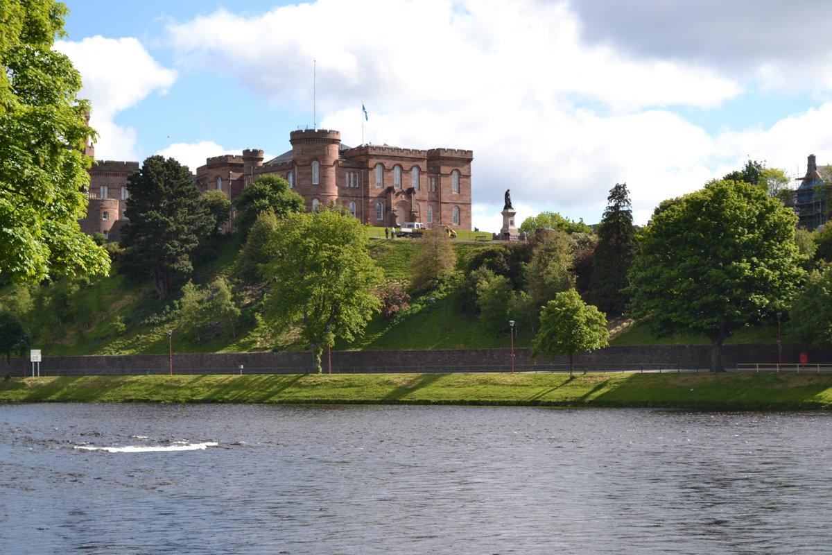 Inverness Castle - genutzt als Justizgebäude