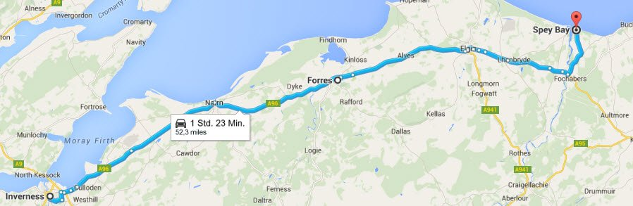 Inverness - Forres - Spey Bay