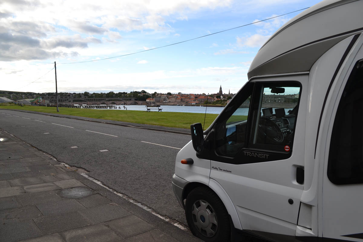 Parkplatz in Berwick