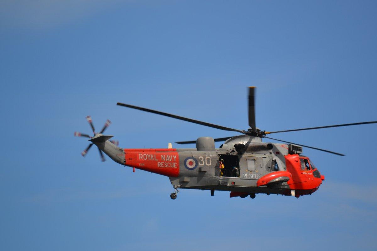 Sea King Helikopter während einer Seenotrettungsübung