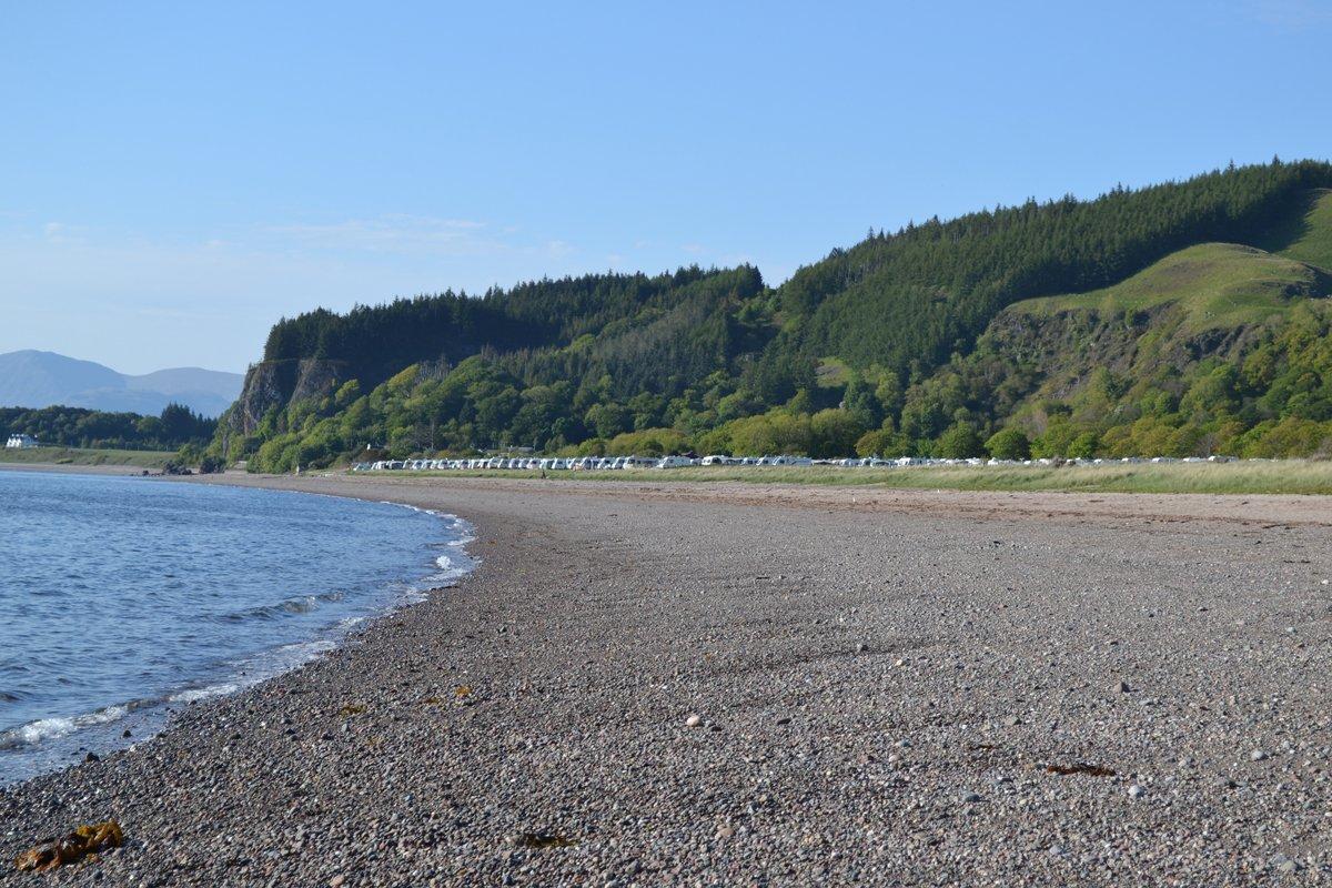 Strand vor dem Campingplatz Ledaig