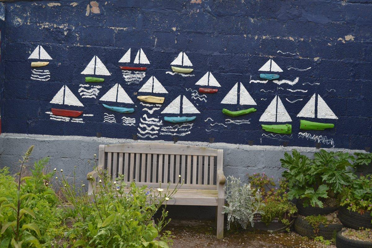 Wandmalerei Delfin-Zentrum