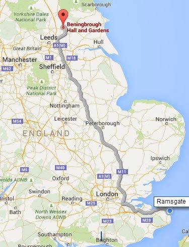 York - Ramsgate - 450 km