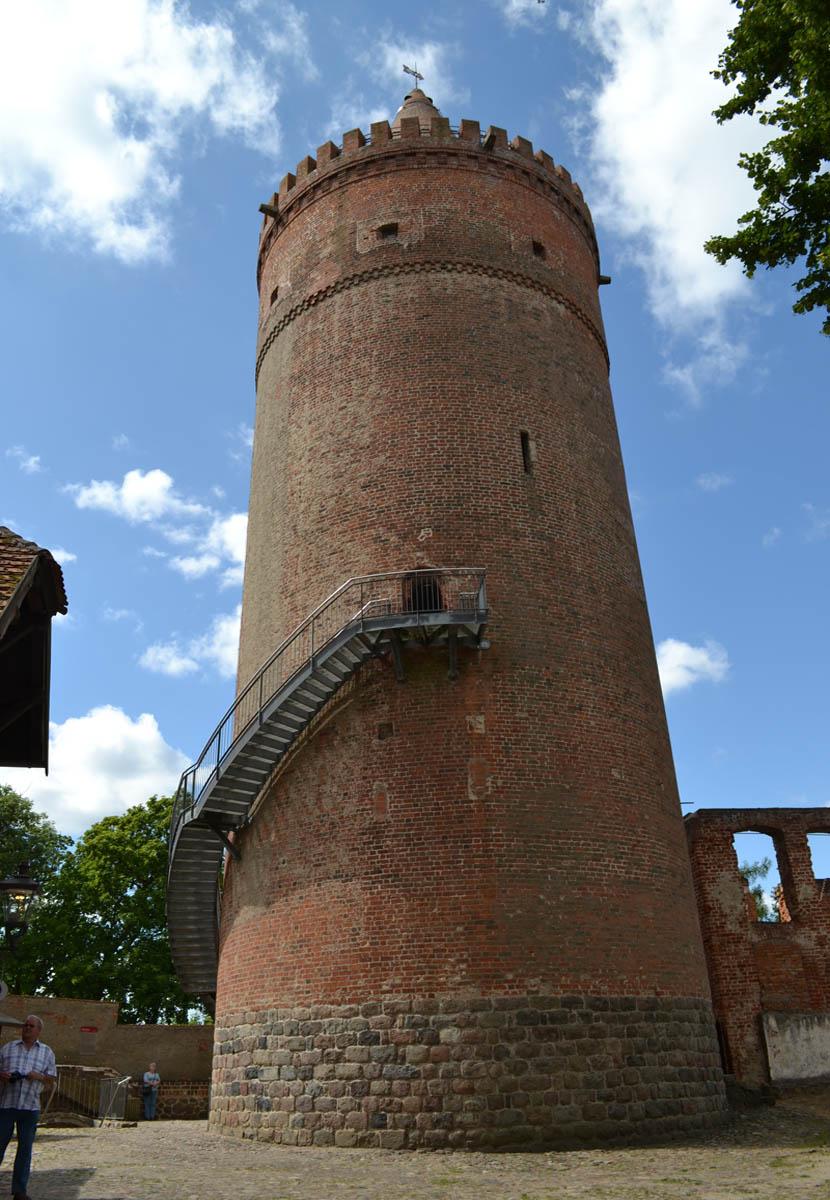Der Turm der Burg Stargard