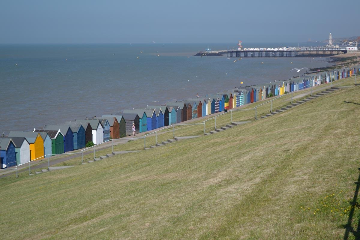Die für England typischen Strandhütten in Herne Bay