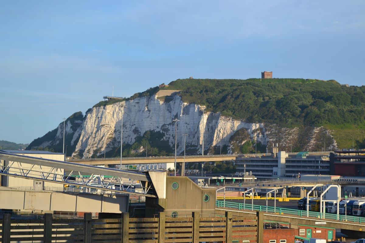 Kurz vor der Abfahrt in Dover