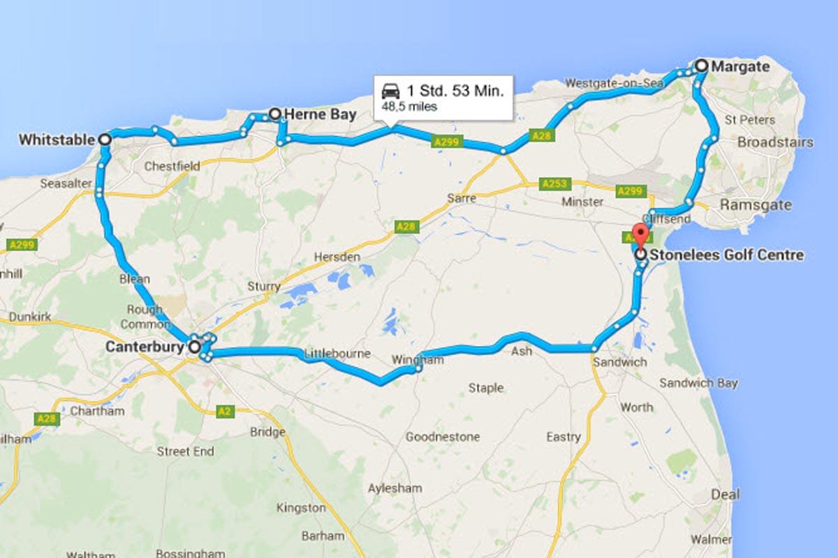 Ramsgate - Canterbury - Whitstable - Herne Bay - Margate - Ramsgate