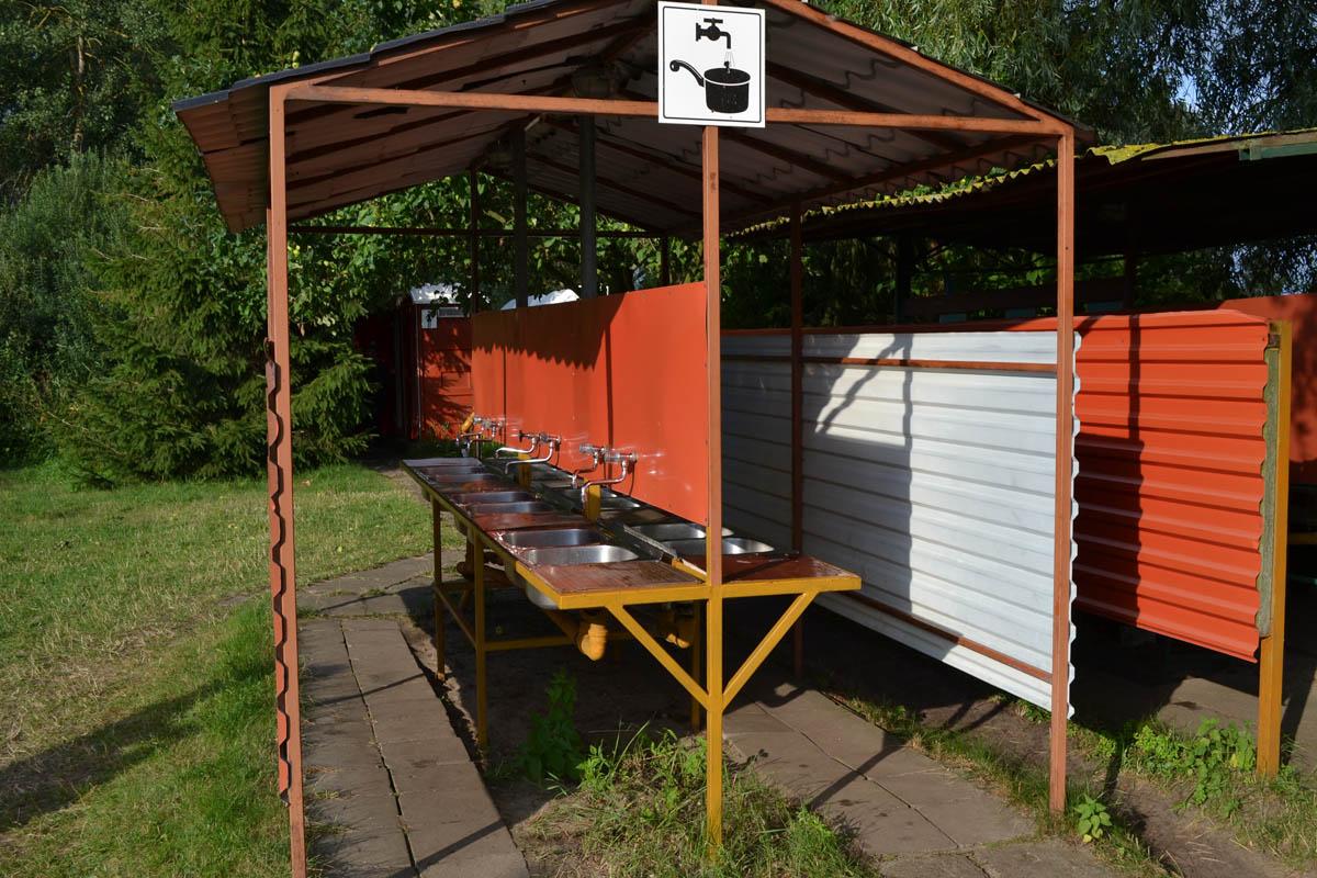 Abwaschbecken auf demPiaski Campingplatz