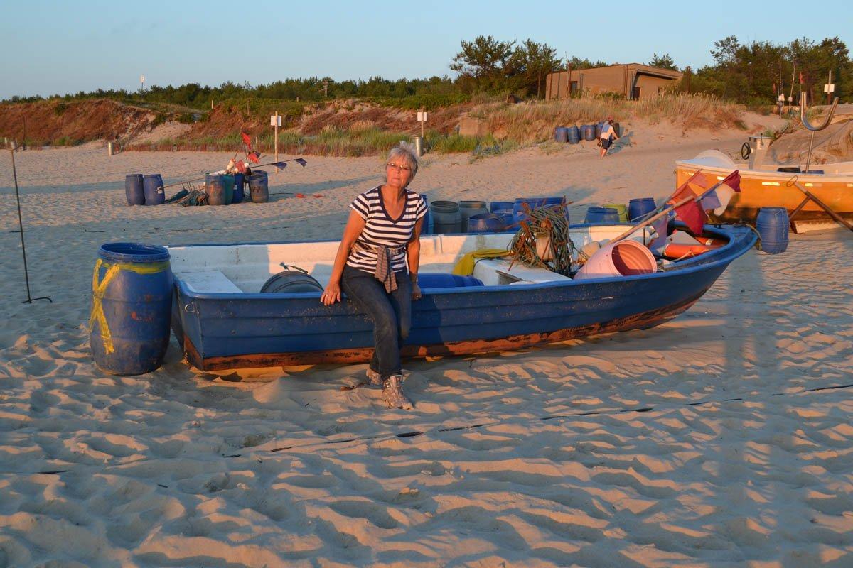 Am abendlichen Strand von Piaski
