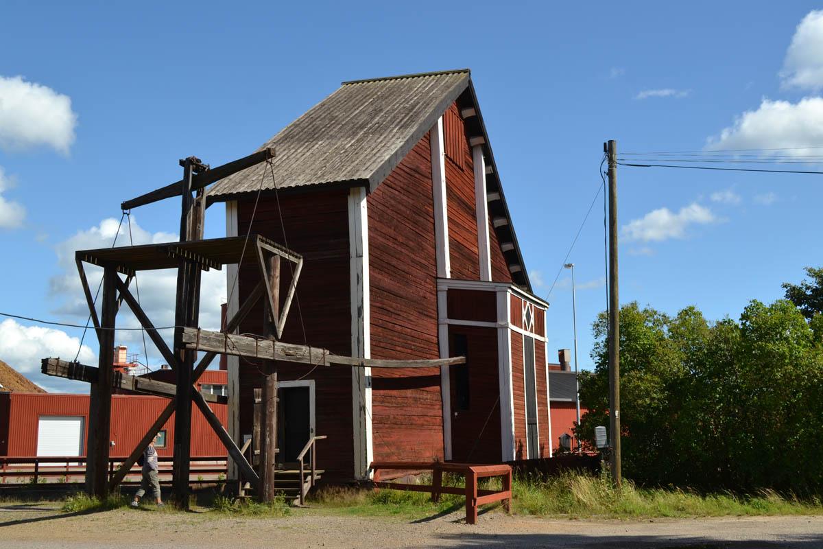 Das Wasserrad-Maschinenhaus
